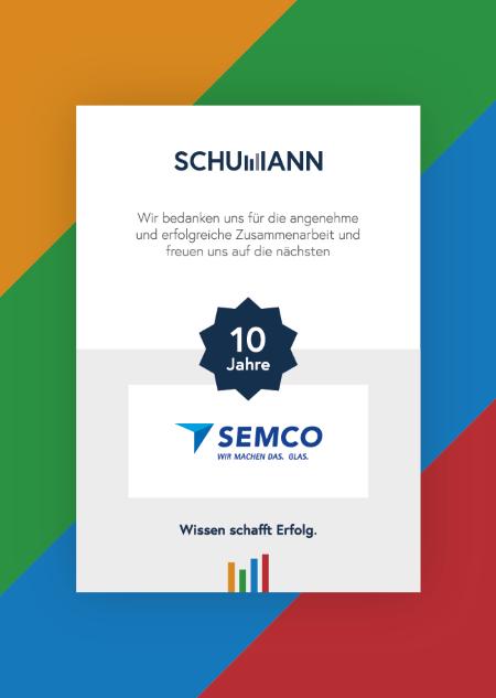 10 Jahre Zusammenarbeit mit Semcoglas