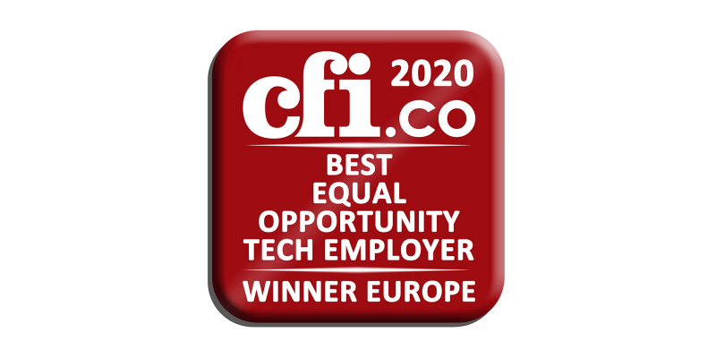 cfi.co Best Equal Opportunity Tech Employer Europe 2020